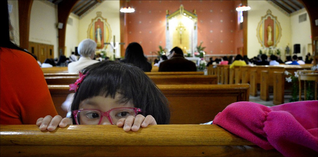 Peeking In The Pews