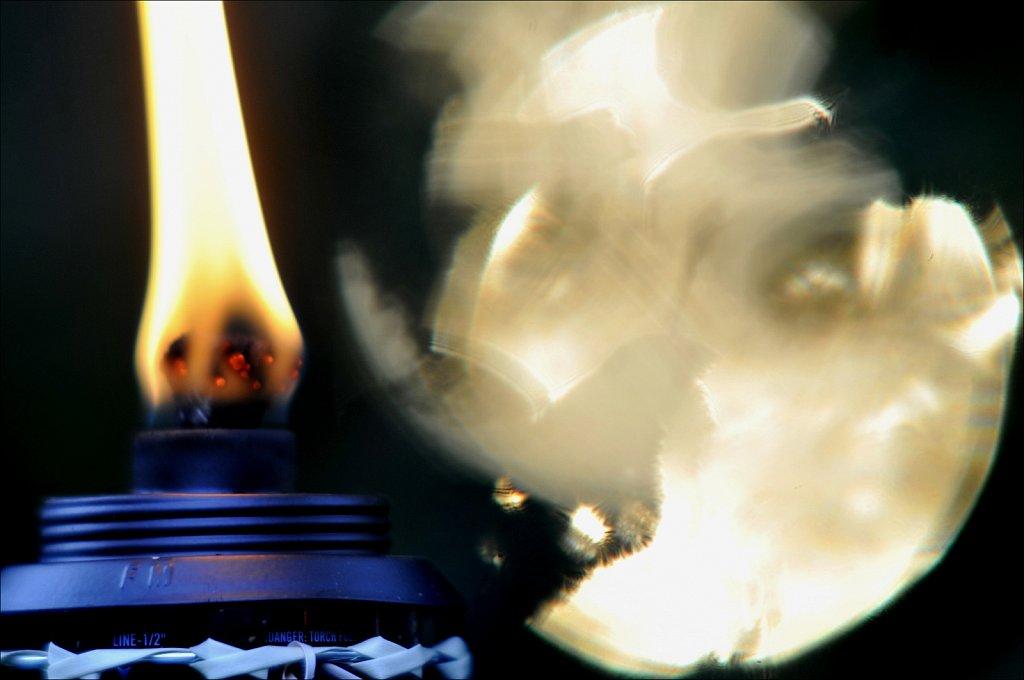 Tiki Lamp & Setting Sun