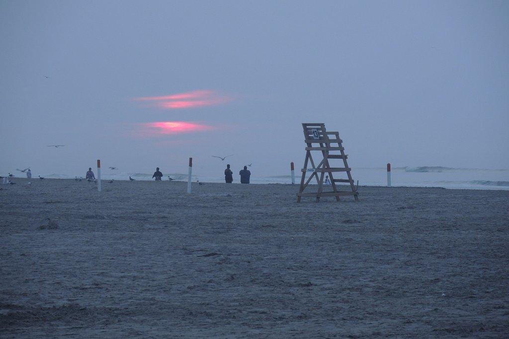 Sunrise On Wildwood Crest Beach