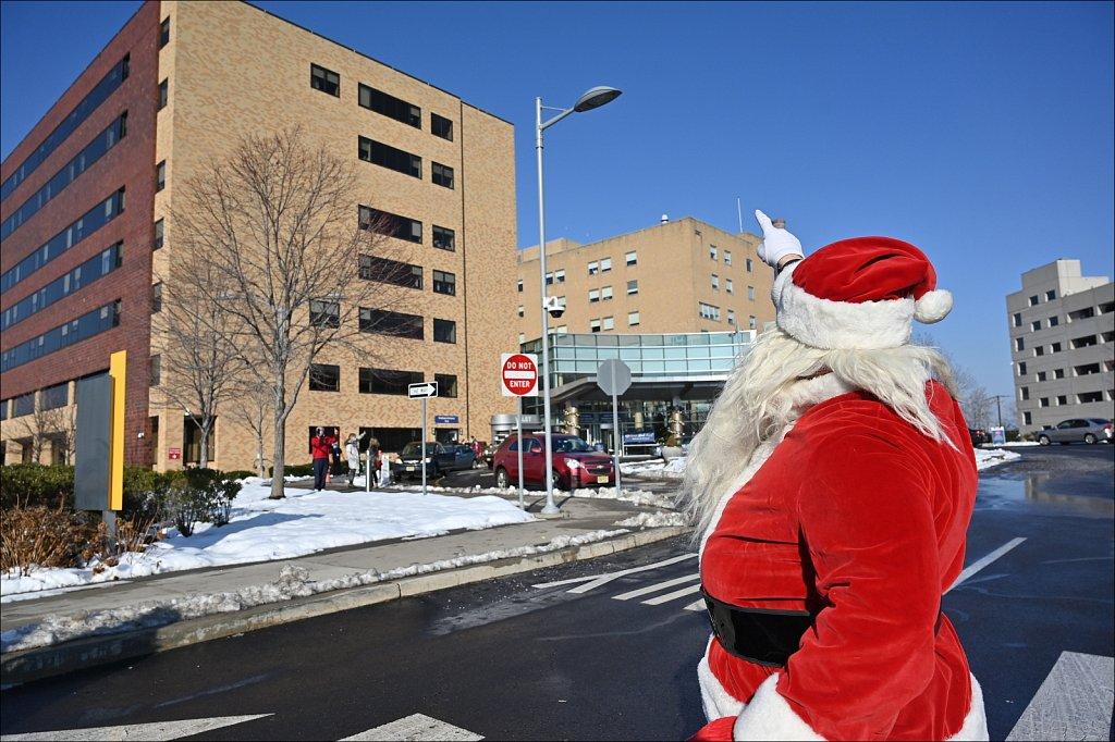 Santa Visits Saint Joseph's Hospital